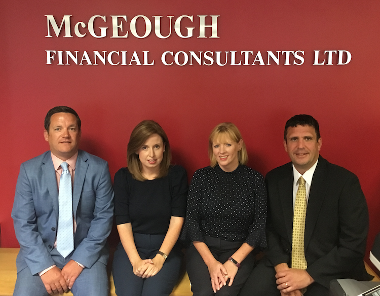 Meet our Friendly, Expert Team at McGeough Financial Consultants. David, Donna, Patricia & Mark.